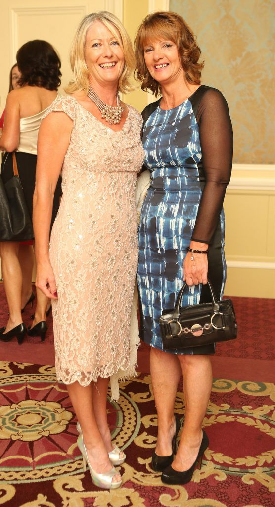 Pictured at the Brown Thomas / ISPCC charity luncheon at the Four Seasons Hotel in Dublin were (l to r): Anne Hawkshaw and Mags Keogh. Photograph: Leon Farrell / Photocall Ireland