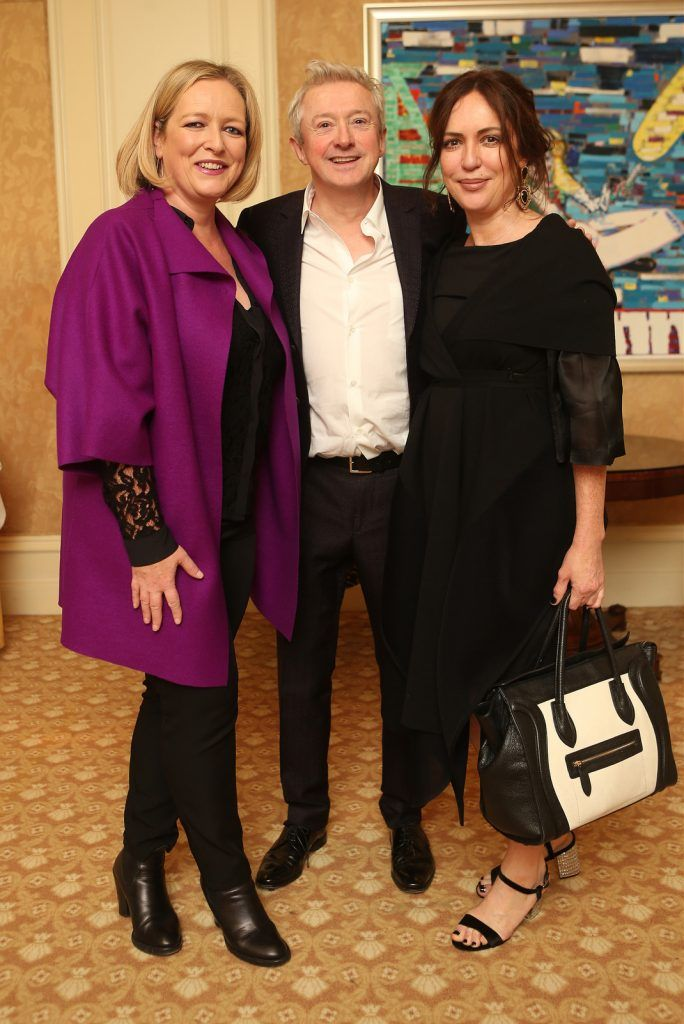 Pictured at the Brown Thomas / ISPCC charity luncheon at the Four Seasons Hotel in Dublin were (l to r): Lynda McQuaid, Louis Walsh, Moira Ryan. Photograph: Leon Farrell / Photocall Ireland