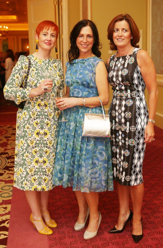 Pictured at the Brown Thomas / ISPCC charity luncheon at the Four Seasons Hotel in Dublin were (l to r): Colette Meehan, Marion Cronin, Eilish Sullivan. Photograph: Leon Farrell / Photocall Ireland