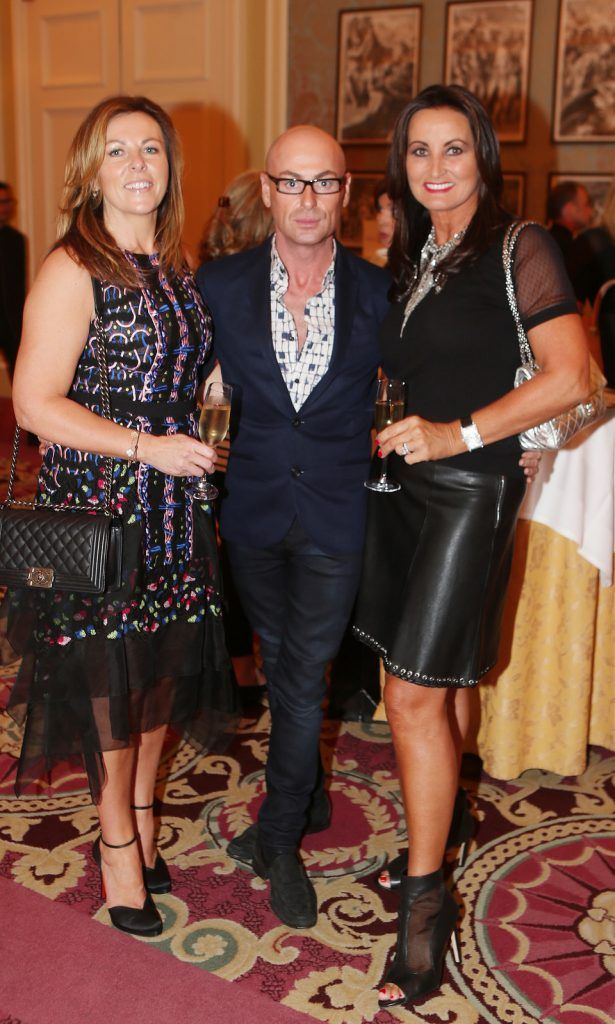 Pictured at the Brown Thomas / ISPCC charity luncheon at the Four Seasons Hotel in Dublin were (l to r): Christina Kilroe, Erich Conlon, Annette Rocca. Photograph: Leon Farrell / Photocall Ireland