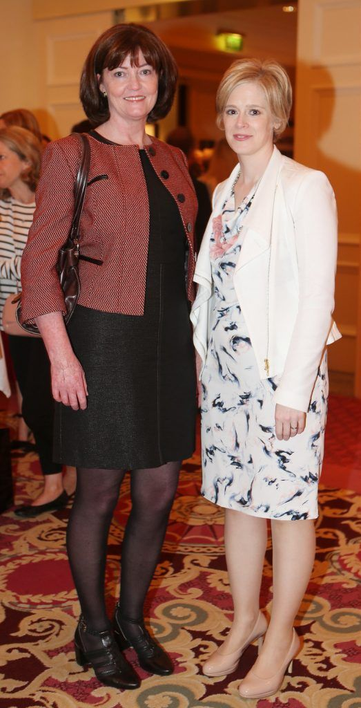 Pictured at the Brown Thomas / ISPCC charity luncheon at the Four Seasons Hotel in Dublin were (l to r): Eileen O'Sullivan, Sonya Manzor. Photograph: Leon Farrell / Photocall Ireland
