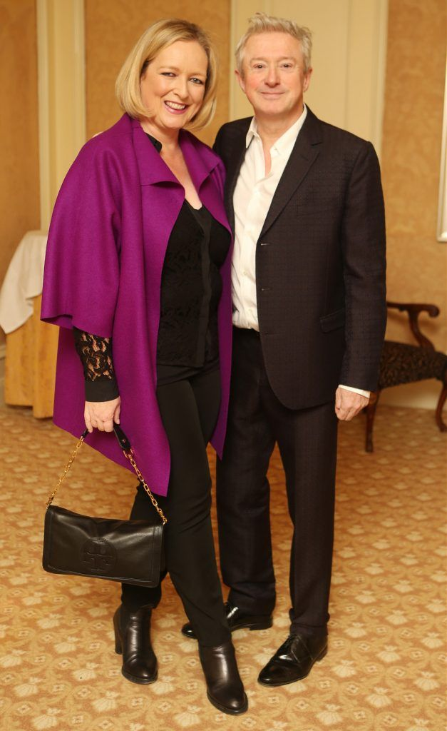 Pictured at the Brown Thomas / ISPCC charity luncheon at the Four Seasons Hotel in Dublin were (l to r): Lynda McQuaid, Louis Walsh. Photograph: Leon Farrell / Photocall Ireland