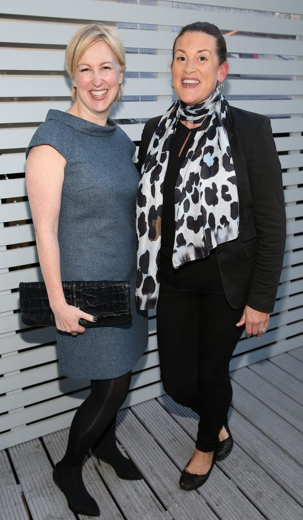 "Nicki Howard and Orla Broderick at the launch of Neven Maguire's cookbook ""The Nation's favourite Healthy Food"" at Eathos in Upper Baggot Street,Dublin..Picture :Brian Mcevoy"