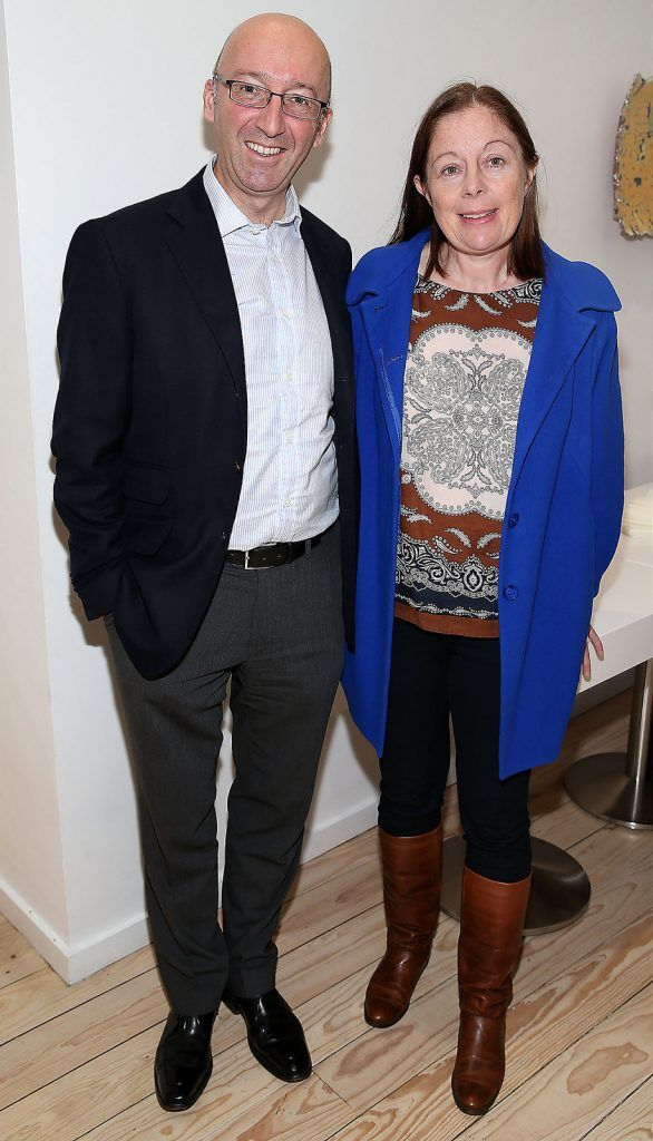 "david butler and Mary Stapleton at the launch of Neven Maguire's cookbook ""The Nation's favourite Healthy Food"" at Eathos in Upper Baggot Street,Dublin..Picture :Brian Mcevoy."