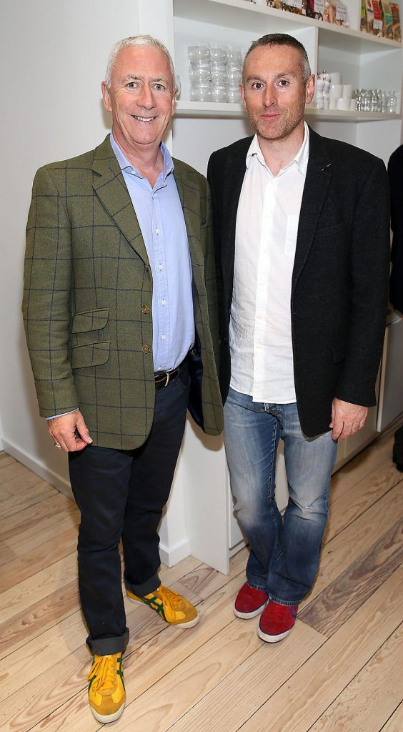 "Brian walsh and Barry Doocey at the launch of Neven Maguire's cookbook ""The Nation's favourite Healthy Food"" at Eathos in Upper Baggot Street,Dublin..Picture :Brian Mcevoy"