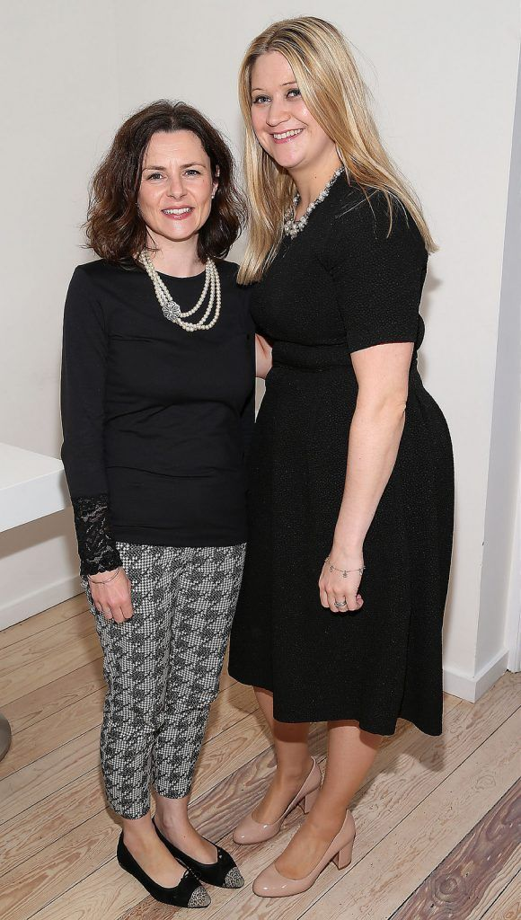 "Niamh Hogan and Mary Tallent at the launch of Neven Maguire's cookbook ""The Nation's favourite Healthy Food"" at Eathos in Upper Baggot Street,Dublin..Picture :Brian Mcevoy."
