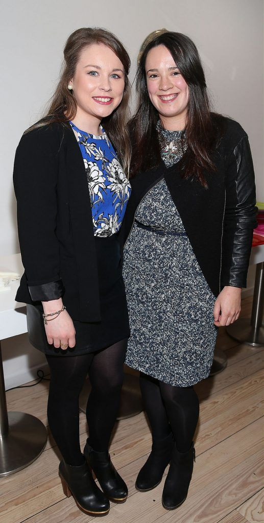 "Karen Sheridan and Olivia Raftery at the launch of Neven Maguire's cookbook ""The Nation's favourite Healthy Food"" at Eathos in Upper Baggot Street,Dublin..Picture :Brian Mcevoy."
