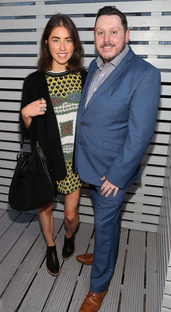 "Erica Bracken and Keith Mahon  at the launch of Neven Maguire's cookbook ""The Nation's favourite Healthy Food"" at Eathos in Upper Baggot Street,Dublin..Picture :Brian Mcevoy"