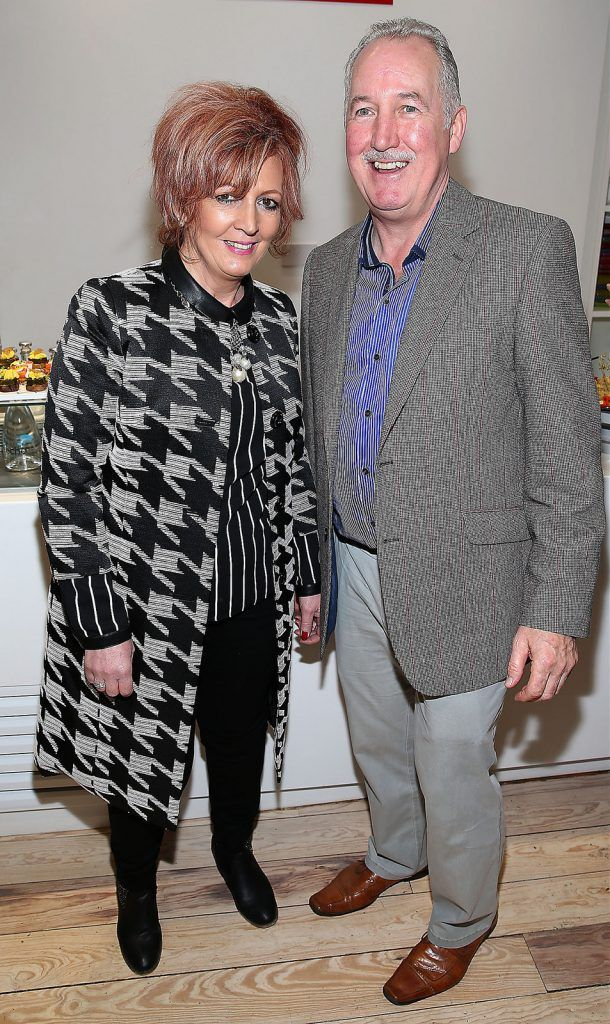 "Fran Doherty and Raymond Doherty at the launch of Neven Maguire's cookbook ""The Nation's favourite Healthy Food"" at Eathos in Upper Baggot Street,Dublin..Picture :Brian Mcevoy."