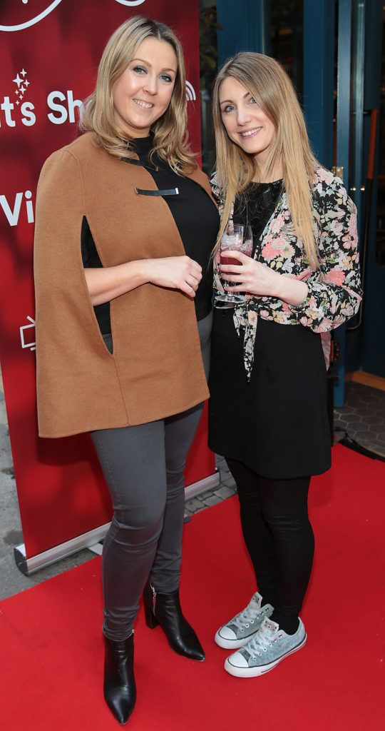 Aoife Harrison and Debbie Fanning at the launch of FIDAY 2016 supported by Virgin Media Ireland  at Zozimus Bar,Dublin. FIDay supports independent retailers by encouraging people to vote with their feet and visit their local boutiques  on April 21st 2016.Picture Brian McEvoy