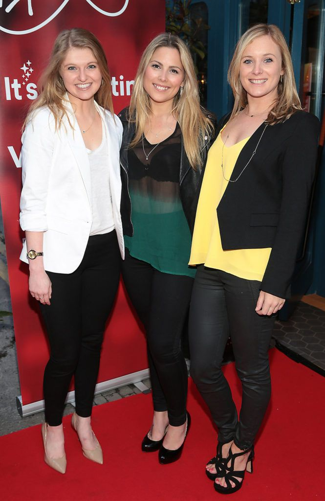 Kelly Zainneger,Chloe Townsend and Lynn Reilly  at the launch of FIDAY 2016 supported by Virgin Media Ireland  at Zozimus Bar,Dublin. FIDay supports independent retailers by encouraging people to vote with their feet and visit their local boutiques  on April 21st 2016.Picture Brian McEvoy.