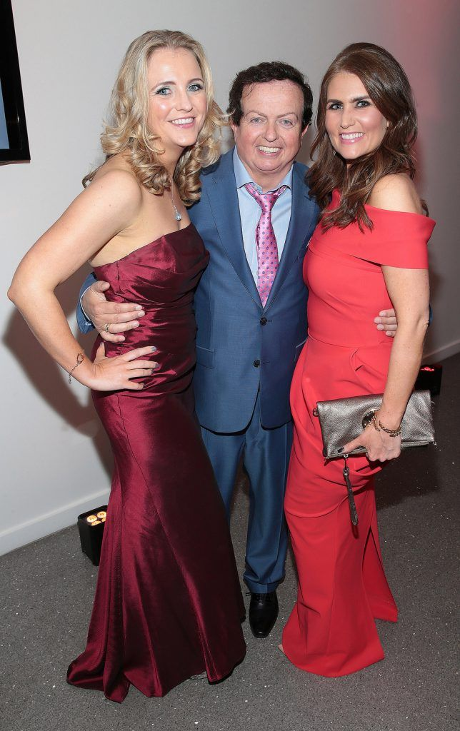 Sinead Harrington, Marty Morrissey and Sandra Byrne  at The Peter Mark Vip Style Awards at The Marker Hotel in Dublin..Picture:Brian McEvoy