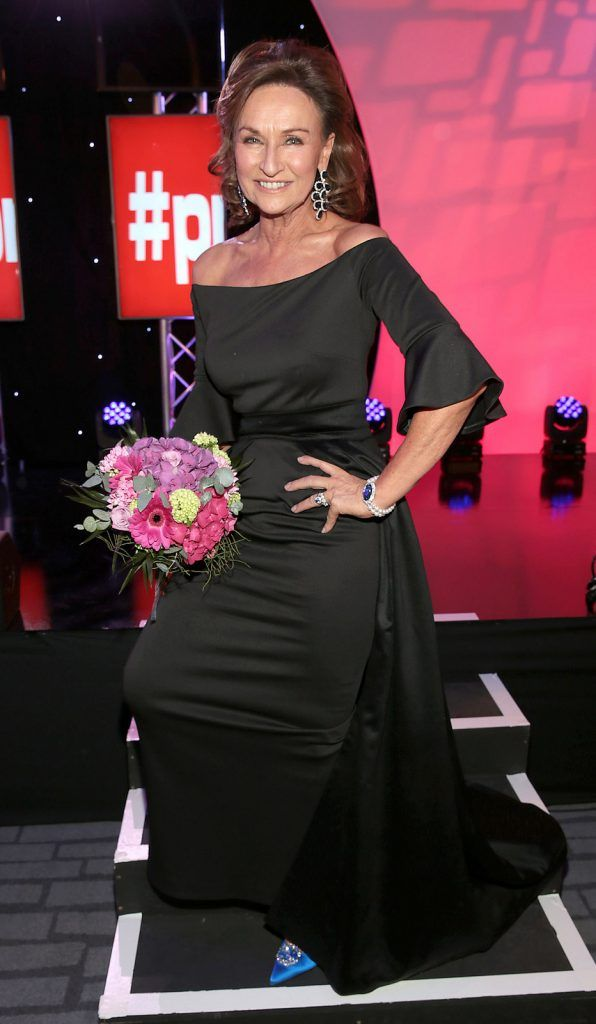 Celia Holman Lee who was awarded the prize of most stylish lady of the night at the Marker Hotel  at The Peter Mark Vip Style Awards ..Picture:Brian McEvoy