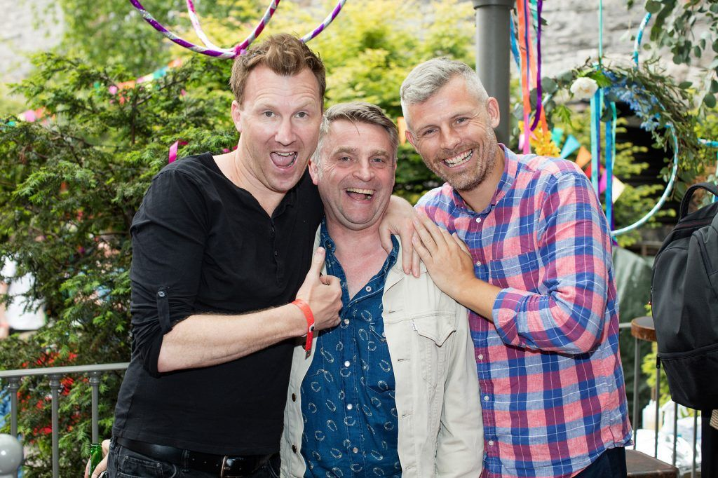 Jason Byrne, Ben Berry & Des Bishop pictured at the Vodafone Comedy Festival launch at The Odeon.   Photo: Anthony Woods