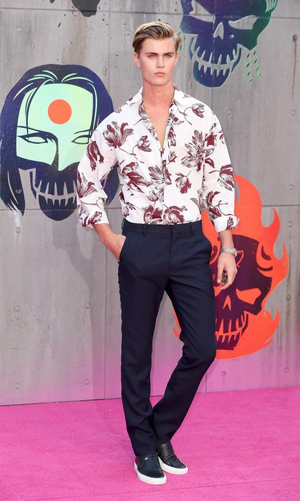 "Samuel Harwood attends the European Premiere of ""Suicide Squad"" at the Odeon Leicester Square on August 3, 2016 in London, England.  (Photo by Chris Jackson/Getty Images)"