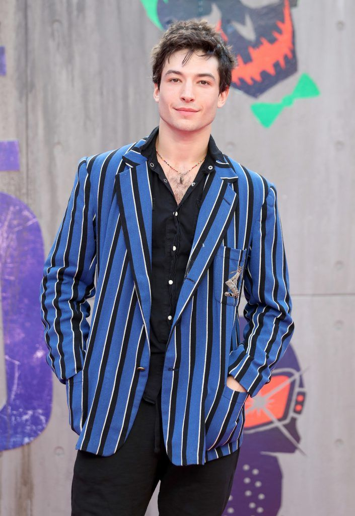 "Ezra Miller attends the European Premiere of ""Suicide Squad"" at the Odeon Leicester Square on August 3, 2016 in London, England.  (Photo by Chris Jackson/Getty Images)"
