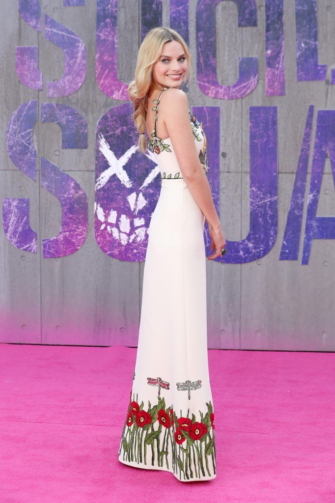 "Margot Robbie attends the European Premiere of ""Suicide Squad"" at the Odeon Leicester Square on August 3, 2016 in London, England.  (Photo by Chris Jackson/Getty Images)"