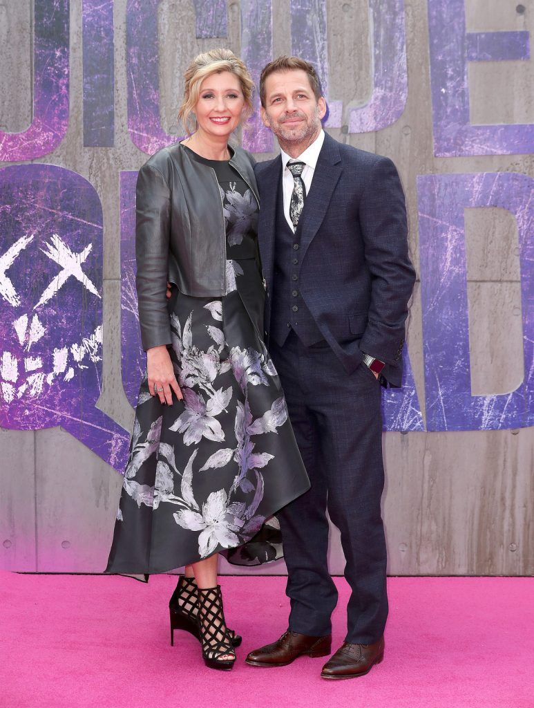 "Deborah Snyder and Zack Snyder attend the European Premiere of ""Suicide Squad"" at the Odeon Leicester Square on August 3, 2016 in London, England.  (Photo by Chris Jackson/Getty Images)"