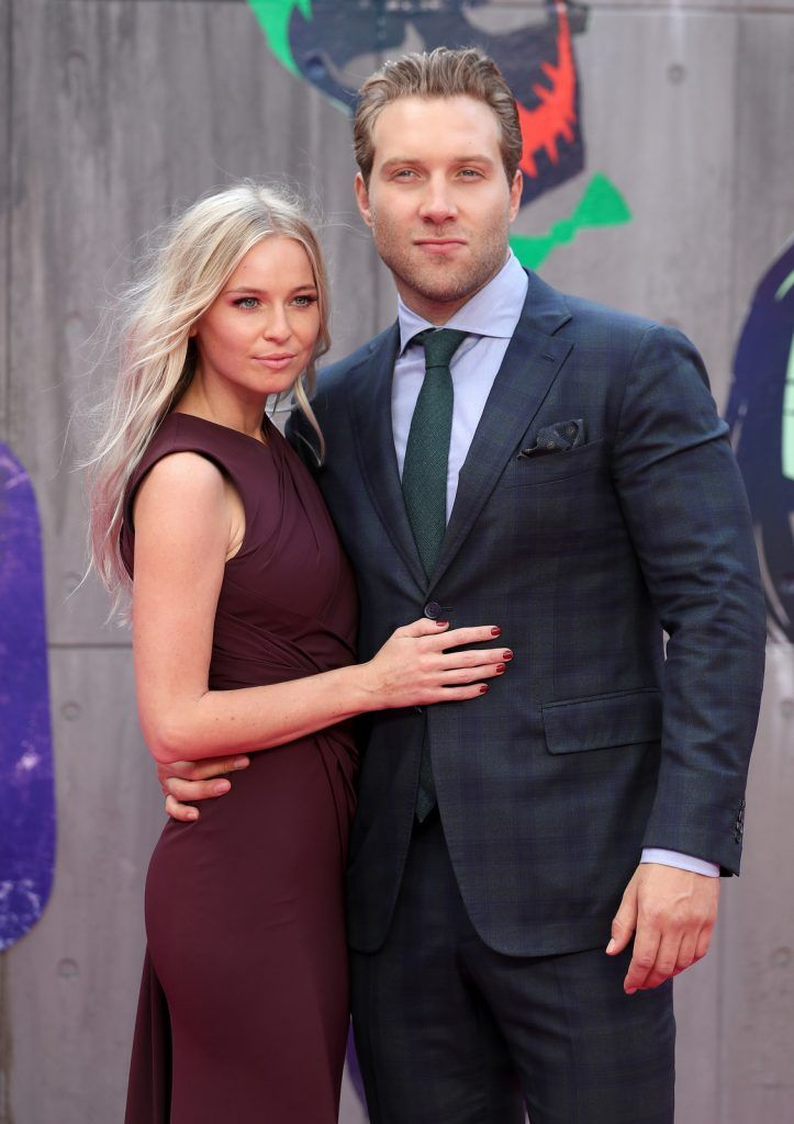 "Mecki Dent and Jai Courtney attend the European Premiere of ""Suicide Squad"" at the Odeon Leicester Square on August 3, 2016 in London, England.  (Photo by Chris Jackson/Getty Images)"
