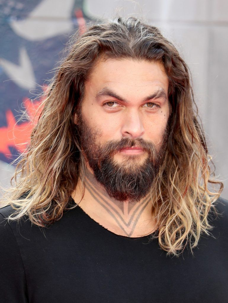 "Jason Momoa attends the European Premiere of ""Suicide Squad"" at the Odeon Leicester Square on August 3, 2016 in London, England.  (Photo by Chris Jackson/Getty Images)"