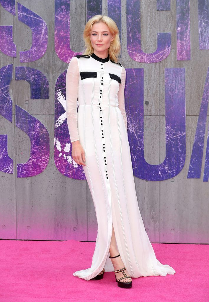 "Clara Paget attends the European Premiere of ""Suicide Squad"" at the Odeon Leicester Square on August 3, 2016 in London, England.  (Photo by Chris Jackson/Getty Images)"