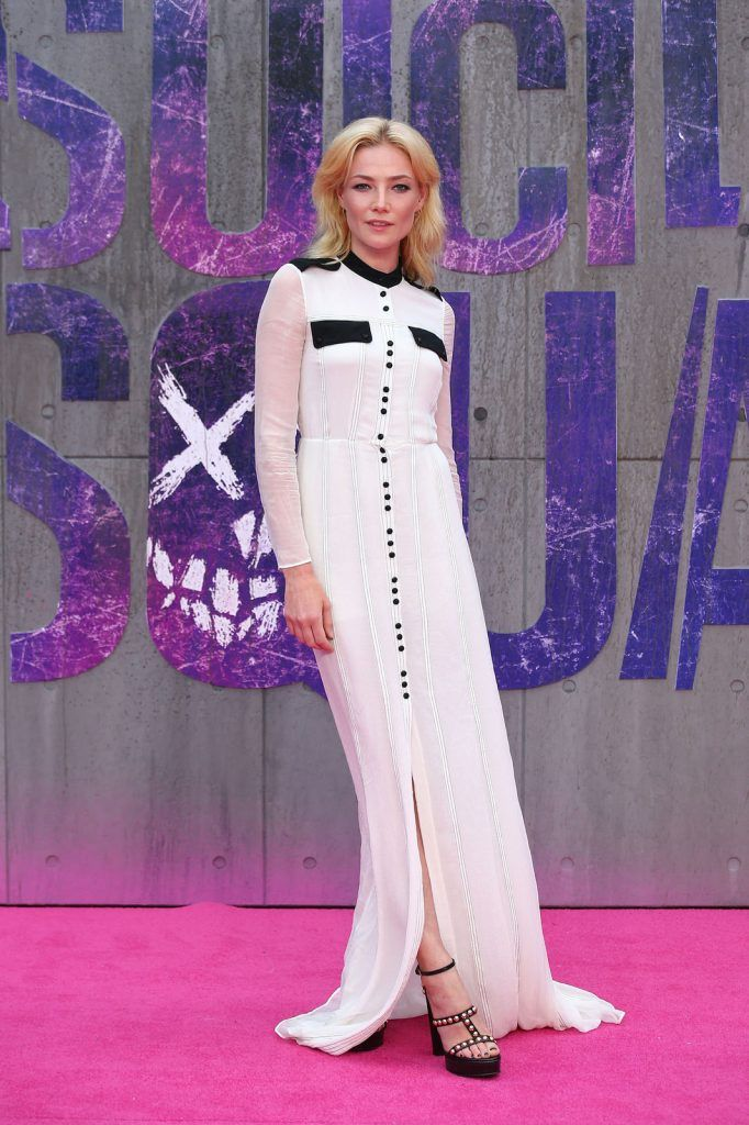 British model and actress Clara Paget poses as she arrives to attend the European premiere of the film Suicide Squad in central London on August 3, 2016.  / AFP / JUSTIN TALLIS        (Photo credit JUSTIN TALLIS/AFP/Getty Images)