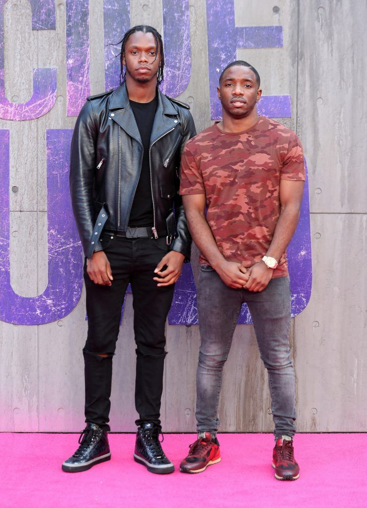 "Krept and Konan attend the European Premiere of ""Suicide Squad"" at the Odeon Leicester Square on August 3, 2016 in London, England.  (Photo by Chris Jackson/Getty Images)"