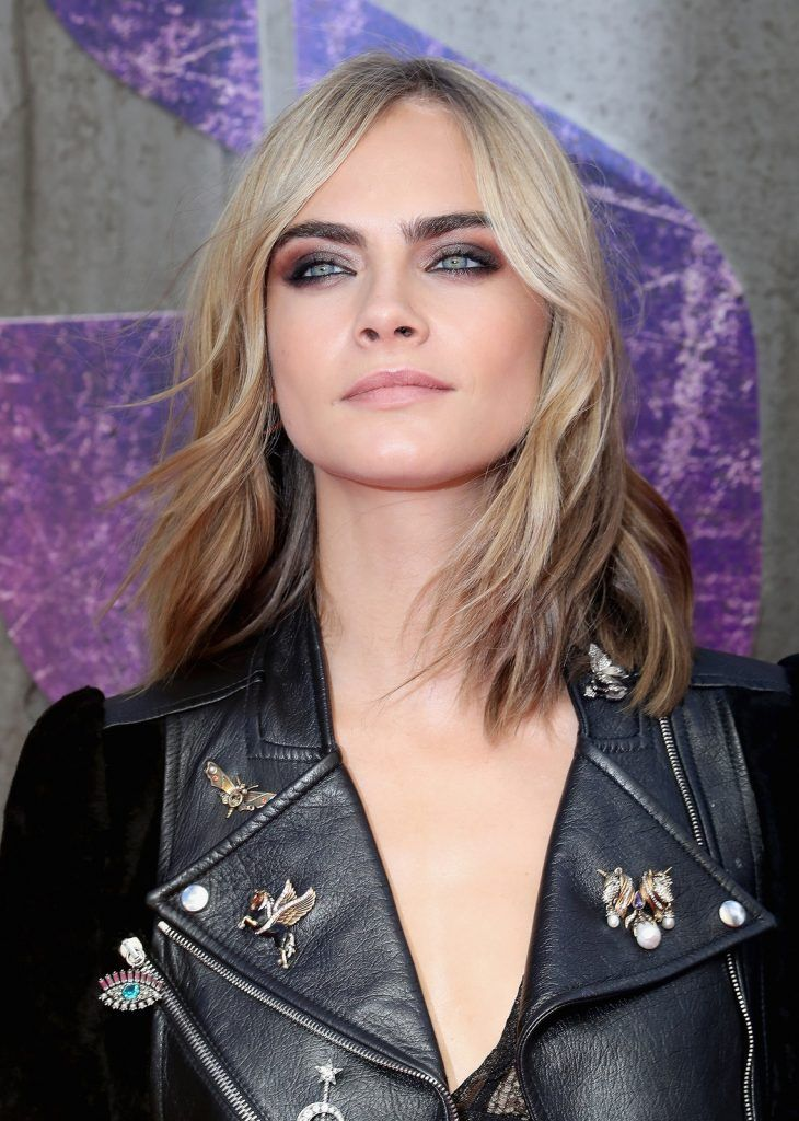 "Cara Delevingne attends the European Premiere of ""Suicide Squad"" at the Odeon Leicester Square on August 3, 2016 in London, England.  (Photo by Chris Jackson/Getty Images)"