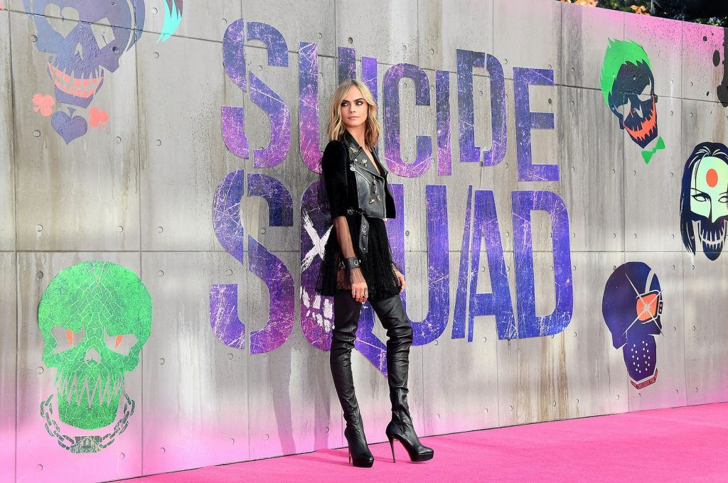 Cara Delevingne attends the Suicide Squad European Premiere sponsored by Carrera on August 3, 2016 in London, England.  (Photo by Stuart C. Wilson/Getty Images for carrera)