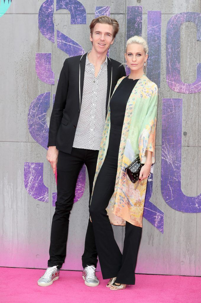"James Cook and Poppy Delevingne attend the European Premiere of ""Suicide Squad"" at the Odeon Leicester Square on August 3, 2016 in London, England.  (Photo by Chris Jackson/Getty Images)"
