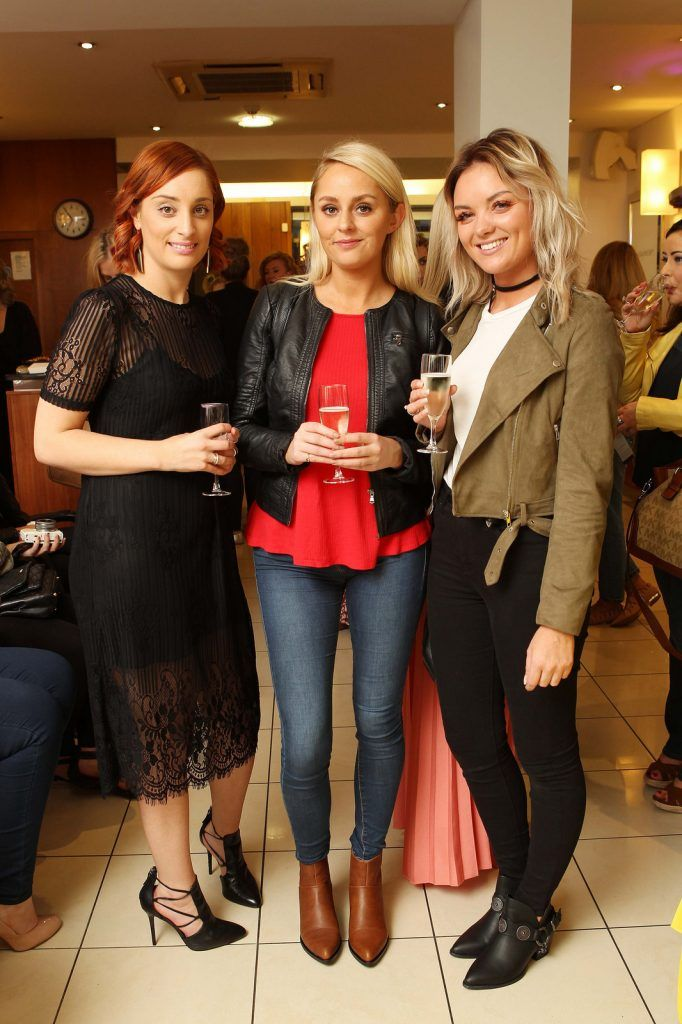 Alli McSweeney, Manager, Peter Mark Winthrop Street, Deirdre Heffernan, ETC., and Tiffany Depuis, Blogger, pictured at the Peter Mark Rapture launch event in the Peter Mark Winthrop St. salon, Cork. Rapture are a new hair extension range to Ireland, exclusive to Peter Mark. Pic: Diane Cusack