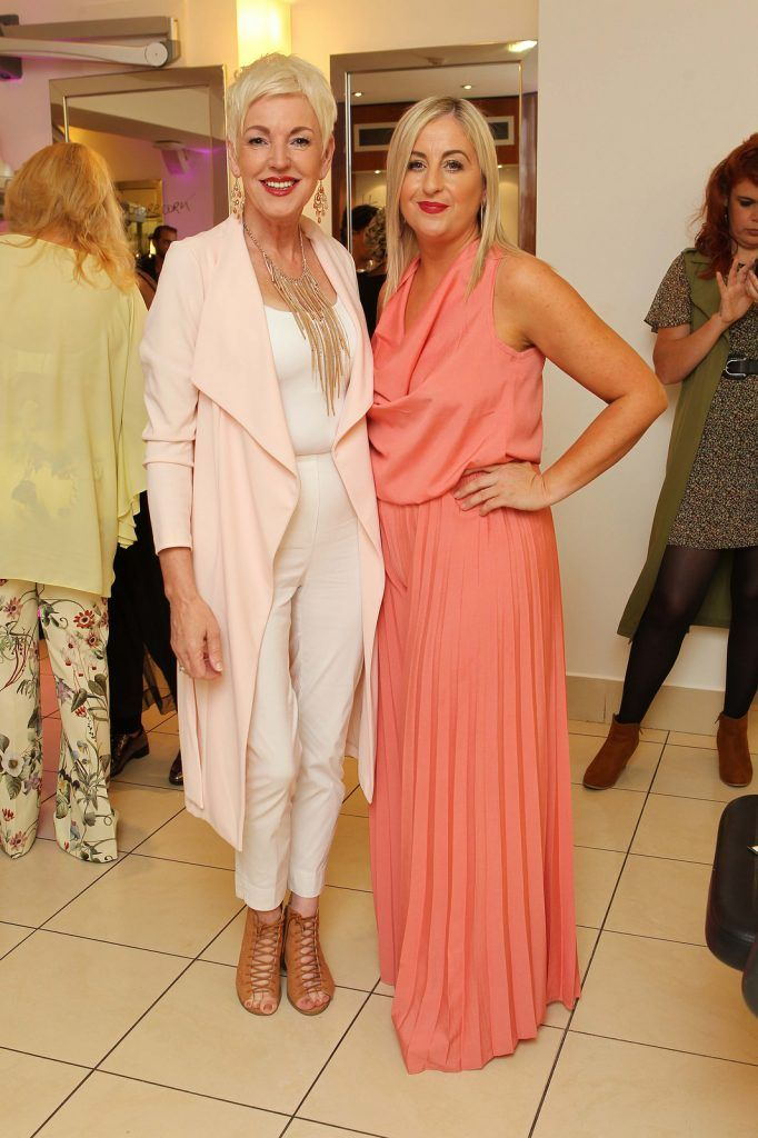 Pat Walker, Lockdown Models, and Ellen Martin, Fab Fillies, pictured at the Peter Mark Rapture launch event in the Peter Mark Winthrop St. salon, Cork. Rapture are a new hair extension range to Ireland, exclusive to Peter Mark.  Pic: Diane Cusack
