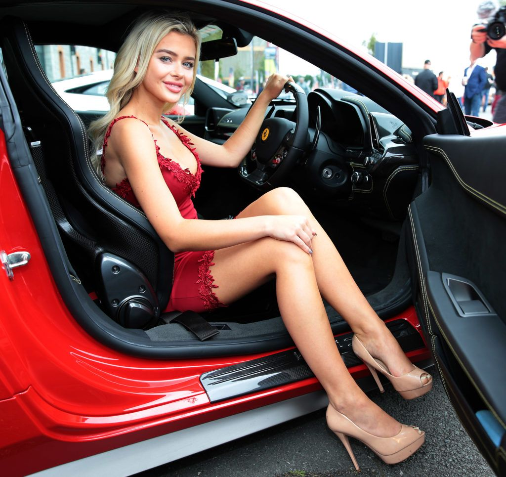 Julisa Milcarek at the start of the Cannonball Supercar 2016 event at Point Village Dublin. Proceeds from this year's Supercar spectacle will go to the Pieta House charity (Photo by Brian McEvoy).