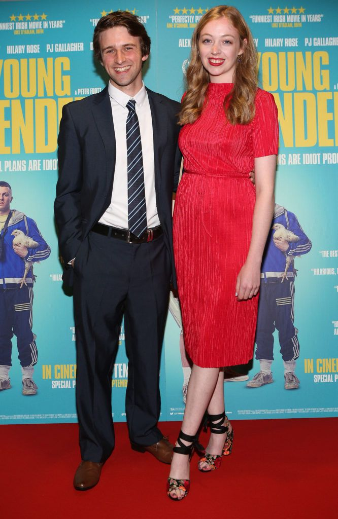 Tommy Harris and Emma Wills at the Irish premiere screening of The Young Offenders at Cineworld, Dublin (Photo by Brian McEvoy).