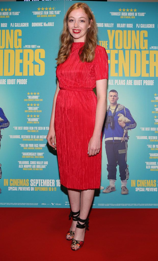 Emma Wills at the Irish premiere screening of The Young Offenders at Cineworld, Dublin (Photo by Brian McEvoy).