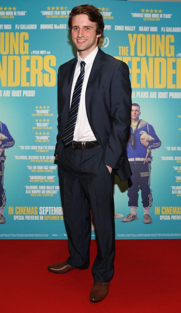 Tommy Harris at the Irish premiere screening of The Young Offenders at Cineworld, Dublin (Photo by Brian McEvoy).