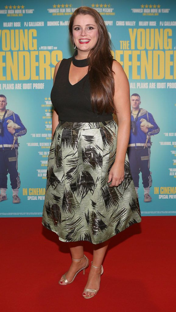Tara Power at the Irish premiere screening of The Young Offenders at Cineworld, Dublin (Photo by Brian McEvoy).