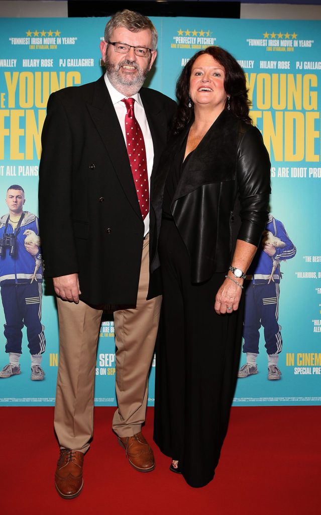 Martin Walley and Jackie Walley at the Irish premiere screening of The Young Offenders at Cineworld, Dublin (Photo by Brian McEvoy).