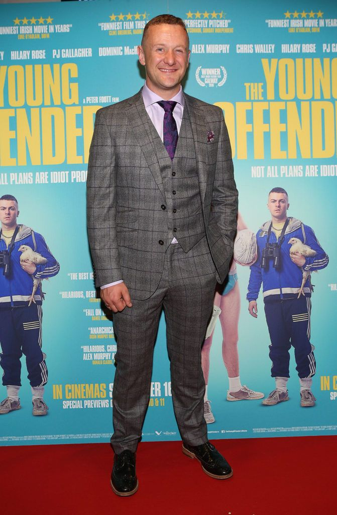 Pj Gallagher at the Irish premiere screening of The Young Offenders at Cineworld, Dublin (Photo by Brian McEvoy).