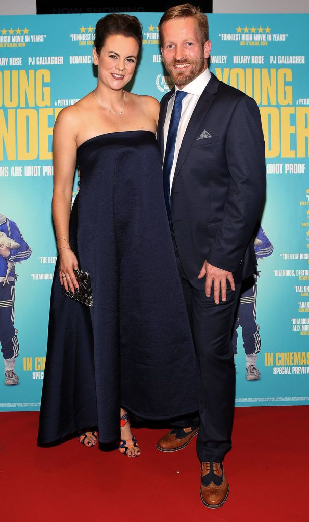 Hilary Rose and Peter Foott at the Irish premiere screening of The Young Offenders at Cineworld, Dublin (Photo by Brian McEvoy).