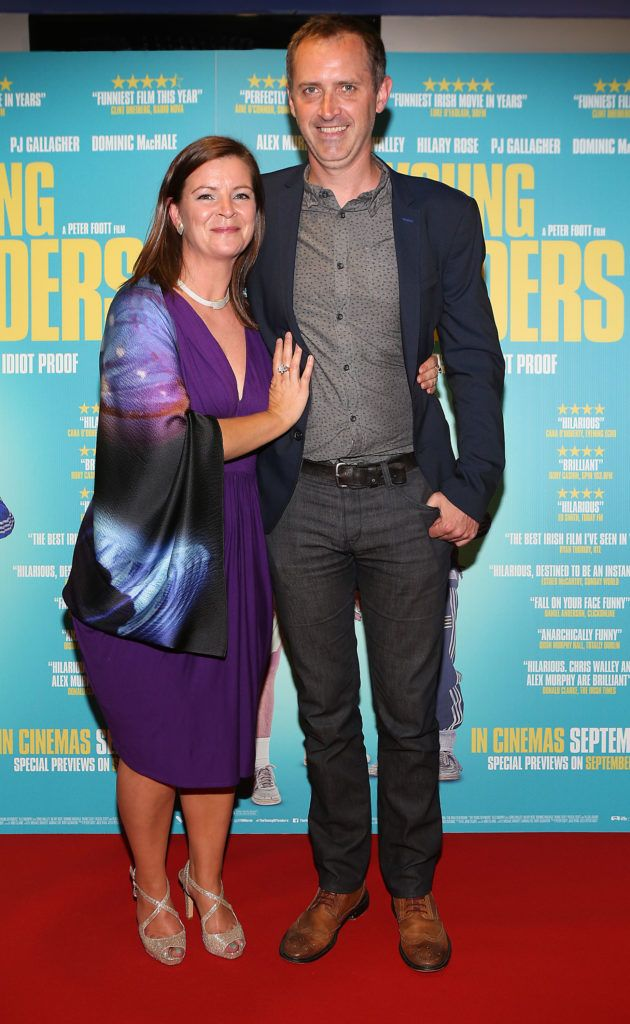 Vera O Grady and Adrian Dunlea at the Irish premiere screening of The Young Offenders at Cineworld, Dublin (Photo by Brian McEvoy).