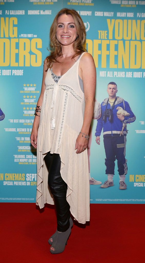 Evelyn Sheehy at the Irish premiere screening of The Young Offenders at Cineworld, Dublin (Photo by Brian McEvoy).