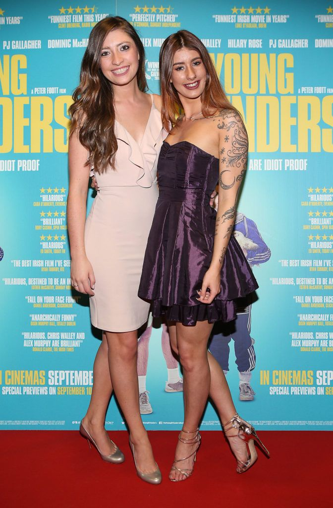 Tara Kerrigan and Becca Downey at the Irish premiere screening of The Young Offenders at Cineworld, Dublin (Photo by Brian McEvoy).
