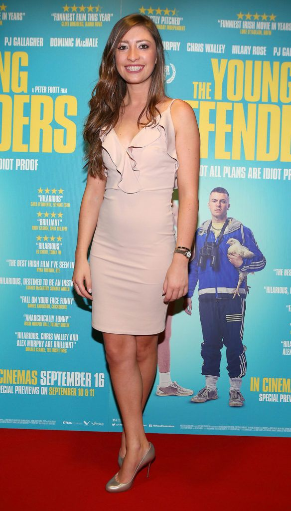 Tara Kerrigan at the Irish premiere screening of The Young Offenders at Cineworld, Dublin (Photo by Brian McEvoy).
