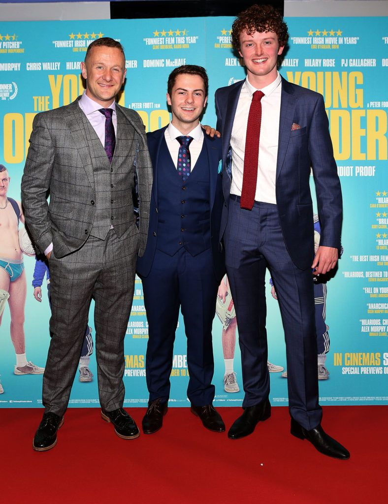 Ph Gallagher, Alex Murphy and Chris Walley at the Irish premiere screening of The Young Offenders at Cineworld, Dublin (Photo by Brian McEvoy).