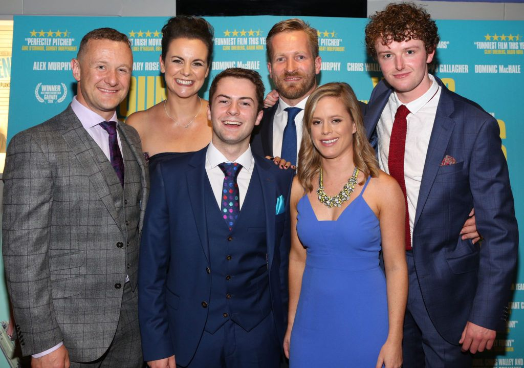 Pj Gallagher, Hilary Rose, Alex Murphy , Peter Foott, Julie Ryan and Chris Walley  at the Irish premiere screening of The Young Offenders at Cineworld, Dublin (Photo by Brian McEvoy).