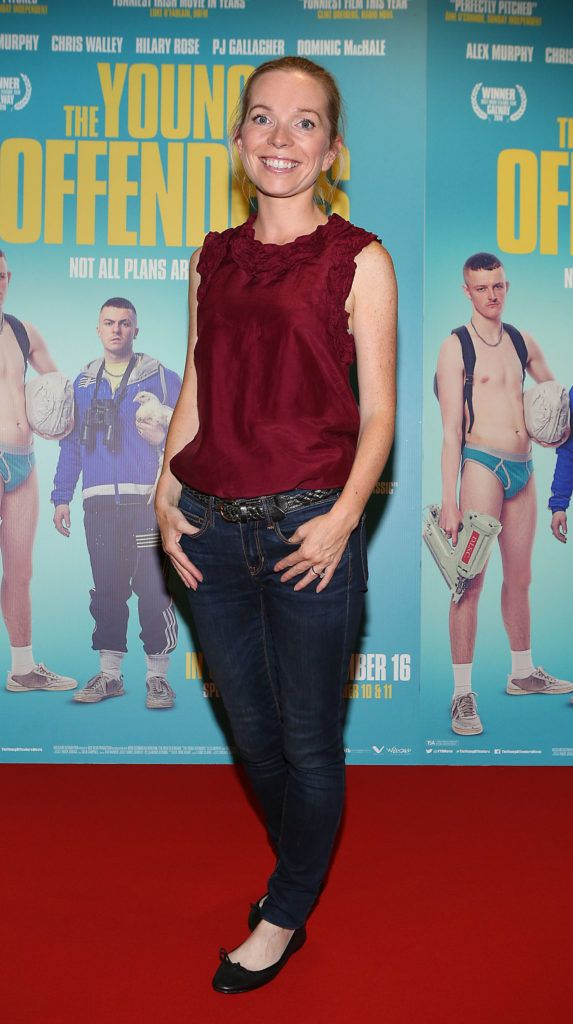 Suzanne Murray at the Irish premiere screening of The Young Offenders at Cineworld, Dublin (Photo by Brian McEvoy).