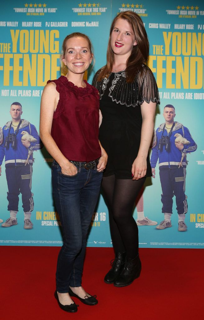 Sadhbh Crowley Barrett and Suzanne Murray at the Irish premiere screening of The Young Offenders at Cineworld, Dublin (Photo by Brian McEvoy).