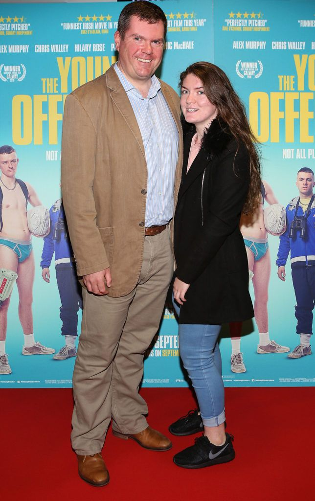 Marc McInerney and Maeve McInerney at the Irish premiere screening of The Young Offenders at Cineworld, Dublin (Photo by Brian McEvoy).