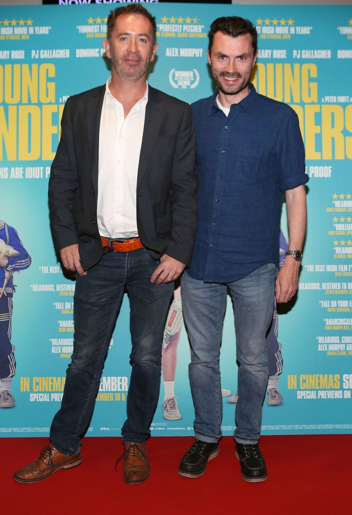 John Hanley and Rory McPartland at the Irish premiere screening of The Young Offenders at Cineworld, Dublin (Photo by Brian McEvoy).